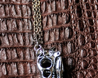 SALE !!!!- T-Rex Skull - Alpaca Chain - Prehistoric - Animal - Boho - Gypsy - Tribal - Apocalyptic - Industrial - Grunge - Gothic