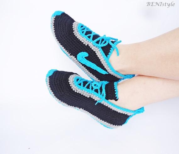 Crochet Nike Shoes : Crochet Mens Shoes, Nike Shoes, Nike Sneakers, Crochet Men Sneakers ...