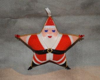 Peyote Santa Star-Large Pattern