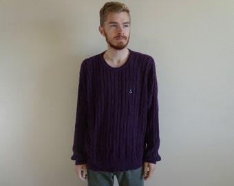 90s IZOD Purple Grape Sweater ~ Size XL