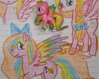 CUSTOM OC| One of a kind| OOAK |My Little Pony Blind Bag Keychain