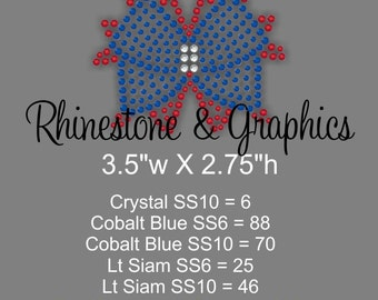 Instant Download Rhinestone Girly Bow