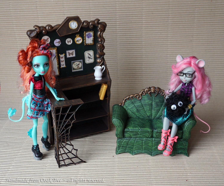 Monster High Furniture Custom Repainted Ooak Creepateria Set