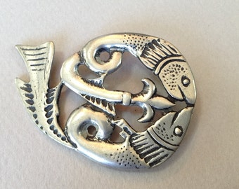 SJC Cornish Design Pewter Brooch/Pin