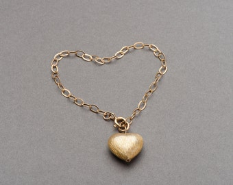 Gold filled heart bracelet FREE UK P&P