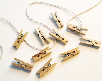 Mini-Clothes Pins - wood - clothes pin - 1 in.