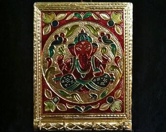 Golden Ganesha Key Holder