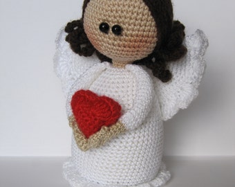 DIY gift for mom white angel affectionate angel wedding Valentine art doll LOVE  birth gift for mother heart angel for her gifts for women