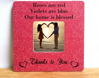 Love photo frame, red hearts frame