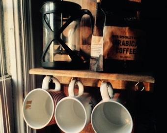 Rustic Handmade Coffee Shelf