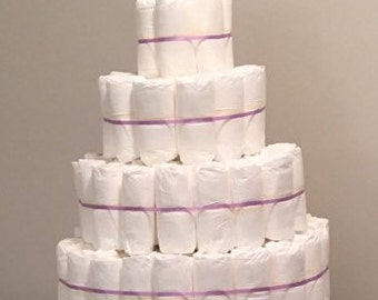 Ready to decorate diaper cake. Any size.