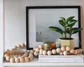 Nest & String For Pearls Collaboration. Designer Wooden Bead Garland