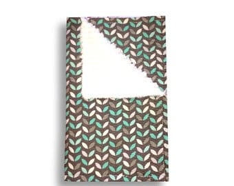 Burp Cloth <<Mint Leaves>> Baby/Toddler/drool//Blue//Green//White//Gray