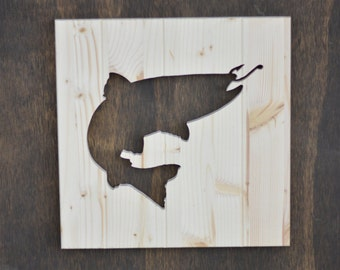 """Trout Wood Silhouette Animal Cutout 13"""""""