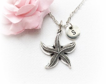 Silver starfish necklace, starfish jewellery, starfish jewelry, seaside necklace,ocean necklace, beach jewellery, beach pendant