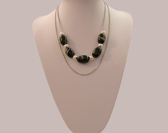 Necklace double row
