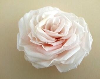 Bridal Hair Clip Wedding Hair Clip Silk Rose Hair Accessories Bridal Hairpiece Rose Hair Clip Hair Jewelry Wedding Headpiece