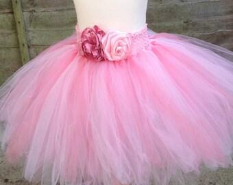 Shades of Pink Tutu Skirt Girls Shabby Chic