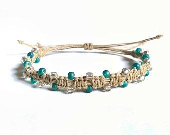 Boho Gifts - Boho Beaded Bracelet, Teen Bracelet, Gift For Her, Bohemian Jewelry, Beaded Bracelet, Bohemian Bracelet, Hemp Bracelet