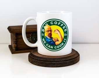 Walter White, Breaking Bad Coffee Mug, Starbucks Parody, We Can Cook it, Funny Coffee Mug, Gift for Him, Gift For Her, Valentines Day Gift