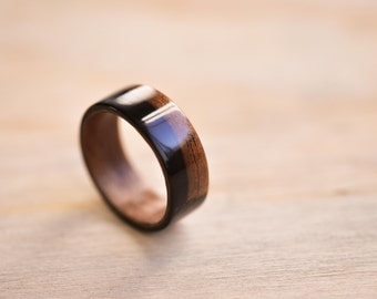 Macassar Ebony Wide-Band Bentwood Ring