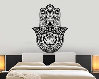 Wall Vinyl Decal Yoga Mandala Padma Lotus Flower Ornament Yoga Studio Decor Yoga Room Modern Home Decor (#1233dz)