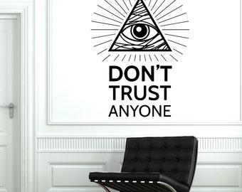 Wall Vinyl Pyramid Eye Of Providence Masons Mural Vinyl Decal Sticker 1773dz