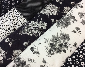 Black and White Baby Quilt with Dot Backing