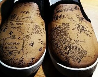 The Hobbit Map Shoes