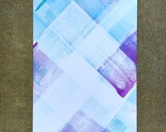 Neon Monoprint - Blue & Purple