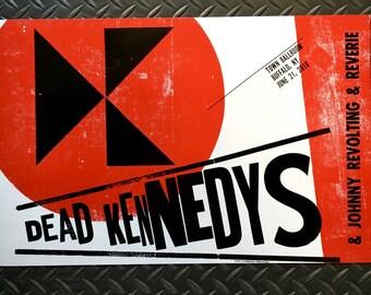 Dead Kennedys & Johnny Revolting Letterpress Gig Poster