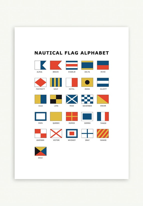 Poster Nautical Flags | Instant Download | L - XXL | Nautical ...