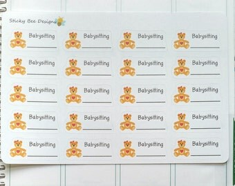 20 Babysitting Stickers