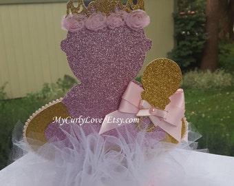 Baby Princess Baby Shower Centerpiece/Pink Gold Baby Centerpiece/Tiara Baby Centerpiece/Princess Baby Centerpiece/Pink Gold Baby Centerpiece