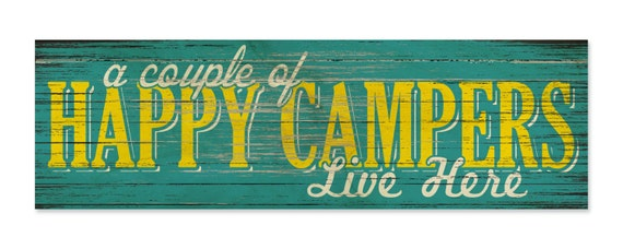 Camping Sign Sign Print to Wood Print on Wood Sign