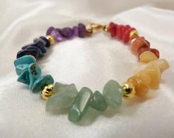 7 Chakra Bracelet, Chakra Bracelet, Meditation Bracelet, Energy Bracelet, Gift for Her, Mala Beads, Chakra Jewelry, Gemstone Bracelet,