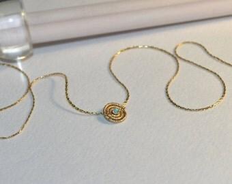Blue Opal Necklace // Opal Drop Necklace Gold - Drop Charm Necklace - Opal Jewelry - Gemstone Necklace - Pendant Necklace