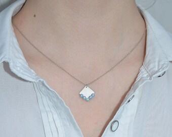 Blue Opal Necklace // Opal Jewelry - Opal Drop Necklace Silver - Opal Charm Necklace - Pendant Necklace - Simple Necklace