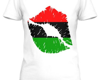Red, Green and Black Lips tee
