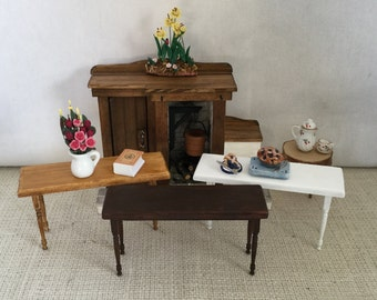Buffet or Sofa Table for your 1:12 Scale Dollhouse