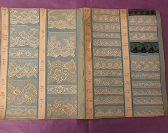 Great boards catalog of 70 samples of fine lace 11842