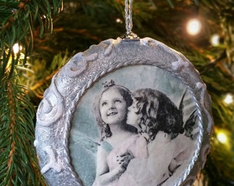 Sold!!!!  Vintage/Shabby Chic/ Christmas Ornament / Decoration / Bauble/ Handmade