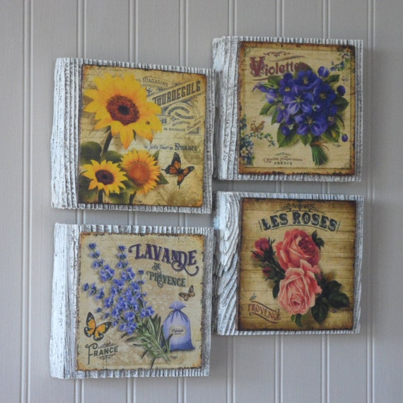 Flower Wall Art French Country Wall Decor French Country