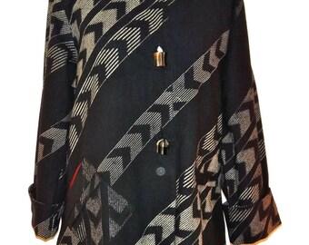 Long Cotton Printed Jacket  - SP15-5030