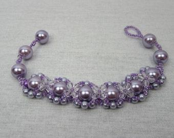Lilac Hugs and Kisses Bracelet
