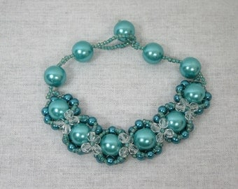 Turquoise Hugs and Kisses Bracelet
