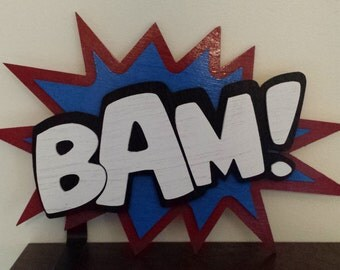 3D Comic Book Sign - BAM - Speech Bubble, Bubble Burst, Pop Art Style
