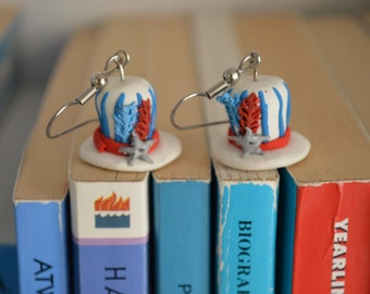 Patriotic Top Hat Earrings