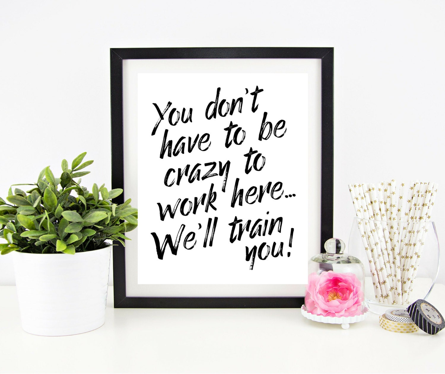Cubicle Decor Printable Office Wall Art Funny Office Signs By