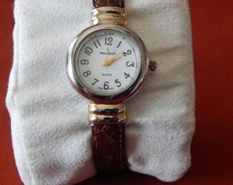 Vintage Peugeot Ladies Cuff Watch Quartz